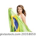 fan, flag, Brazil 20358650