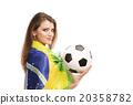 Female soccer fan 20358782