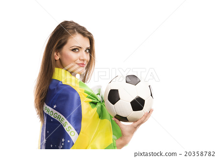 Female soccer fan 20358782