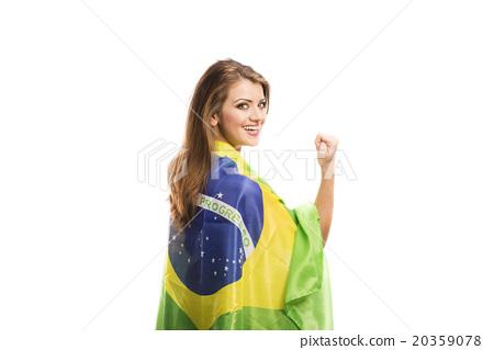 Female sports fan 20359078