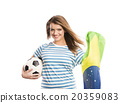 Female soccer fan 20359083