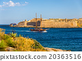 Sailing vassel passing Marsamxett Harbour in Malta 20363516