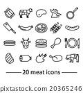 twenty line meat icons 20365246