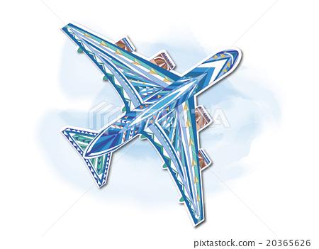抽象的 飛機插畫 20365626