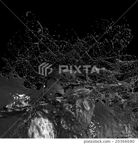 Splash of black fuel Oil. 20366680