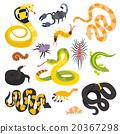 뱀, 벡터, 동물 20367298