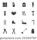 Garden tools simply icons 20369787