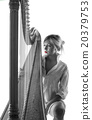 Woman with harp 20379753