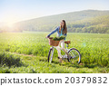Young woman with bike 20379832