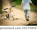 Little boy with tricycle in nature 20379900