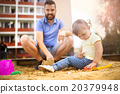 Father and child on playground 20379948