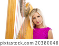Woman with harp 20380048