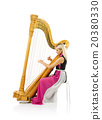 Woman with harp 20380330
