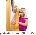 Woman with harp 20380359