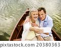 Senior couple on boat 20380363