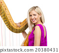 Woman with harp 20380431