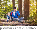 Father and son in the forest 20380627