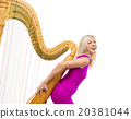 Woman with harp 20381044