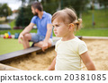 Father and child on playground 20381085