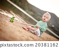 boy, playing, beach 20381162