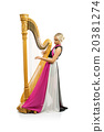 Woman with harp 20381274