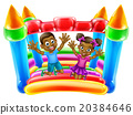 Children Jumping on Bouncy Castle 20384646
