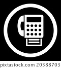 Fax Rounded Vector Icon 20388703