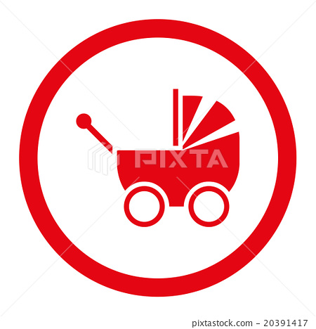 Pram Rounded Vector Icon 20391417