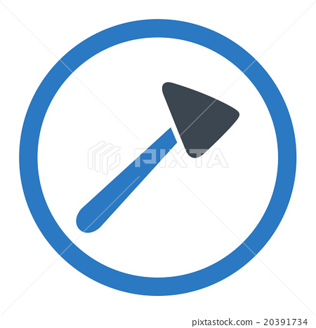 Neurologist Hammer Rounded Vector Icon 20391734