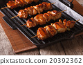 Japanese yakitori barbecue of chicken on a grill 20392362