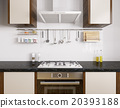 Modern kitchen interior 3d rendering 20393188