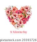 drawing, flower, heart 20393726