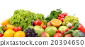fruits and vegetables isolated on white background 20394650