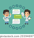 Speaking Doctor Infographic with Icons 20394697