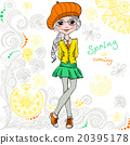 Vector fashion hipster girl 20395178
