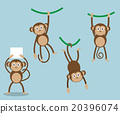 set of monkey cartoon 20396074