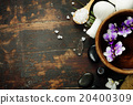 Spa background with floating flowers 20400309