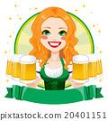 Saint Patrick Waitress Girl Banner 20401151