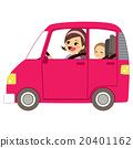 Mom Driving Car With Baby 20401162