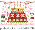 女儿节 女孩的节日 矢量 20402794