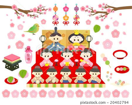 女儿节 女孩的节日 木偶节 20402794