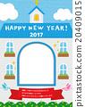 新年贺卡 贺年片 教堂 20409015
