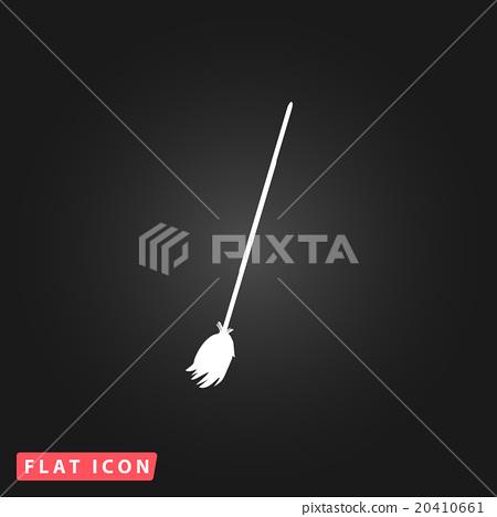 Broom vector icon. 20410661