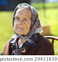 Old woman relaxing 20411630