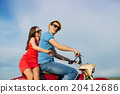 Couple on motorbike 20412686
