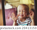 Boy travelling in train 20413150