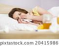 Sick woman 20415986