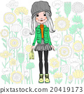 Vector fashion hipster girl 20419173