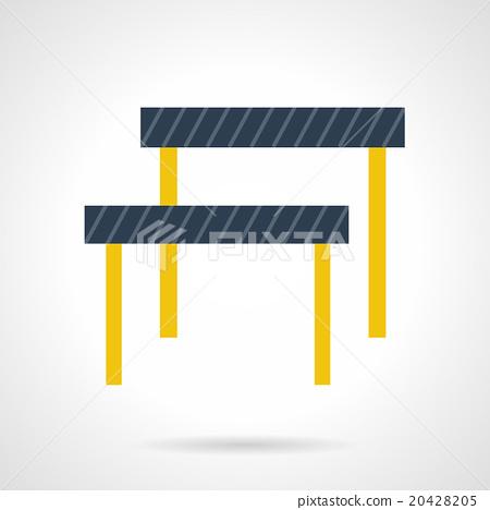 Hurdles flat color vector icon 20428205