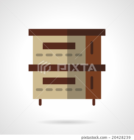 Bakery oven flat color design vector icon 20428239